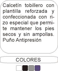 22401 Tobillero Rizo - Descripción